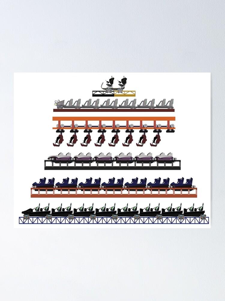 Alternate view of Walibi Holland Coaster Trains Design Poster