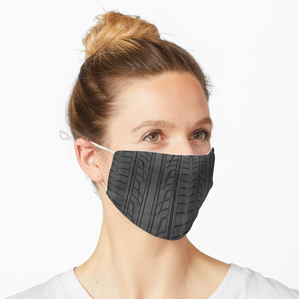 Masque «Section des pneus de voiture de course»