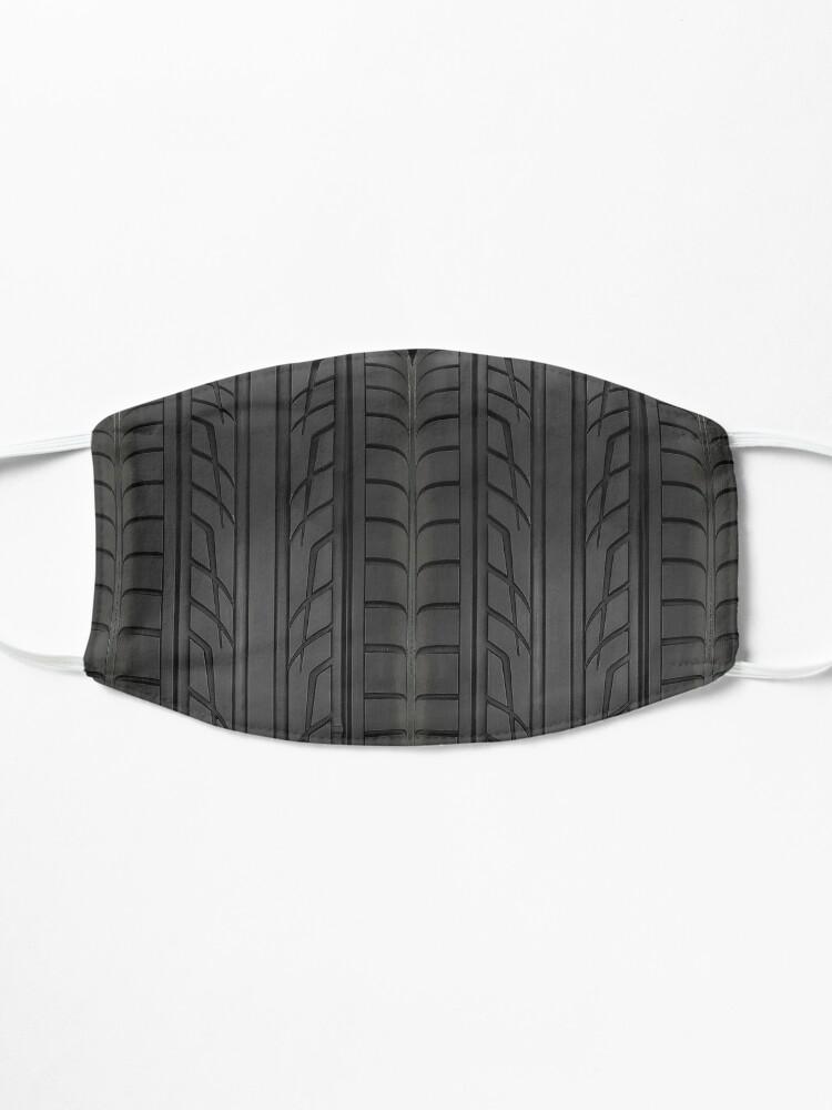 Masque ''Section des pneus de voiture de course': autre vue