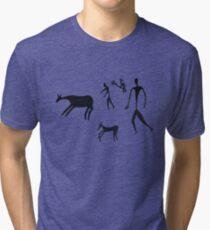 The dawn of man - Black Logo Tri-blend T-Shirt