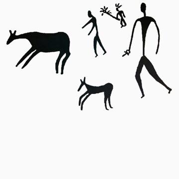 The dawn of man - Black Logo by BonyBackBailey