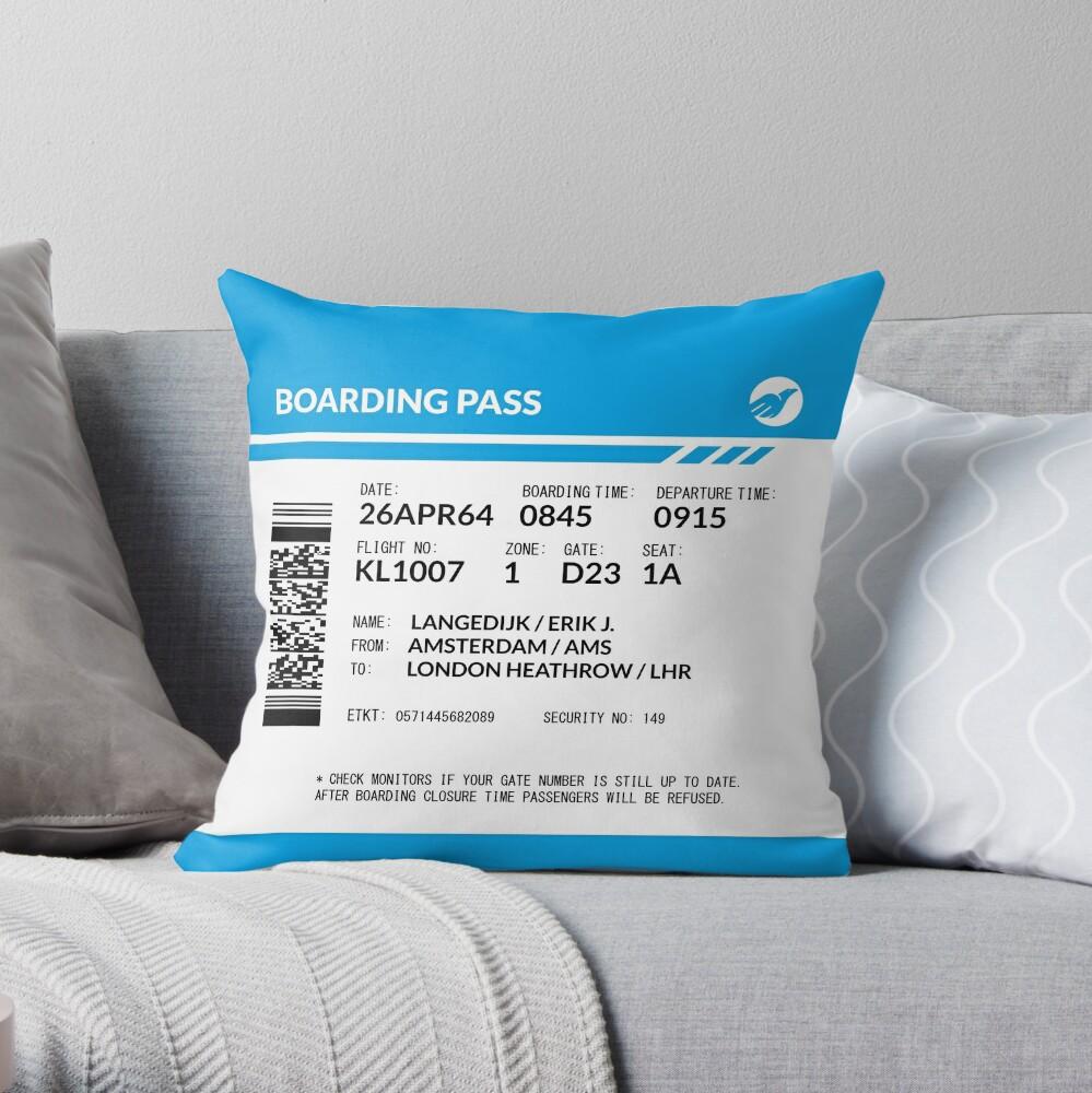 Boarding Pass 5748X5748 (RLG) Throw Pillow