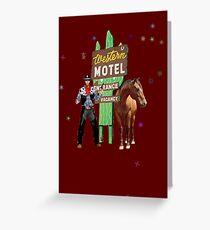 western motel Greeting Card