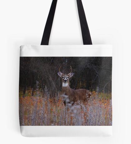 A regal stance - White-tailed Deer Tote Bag