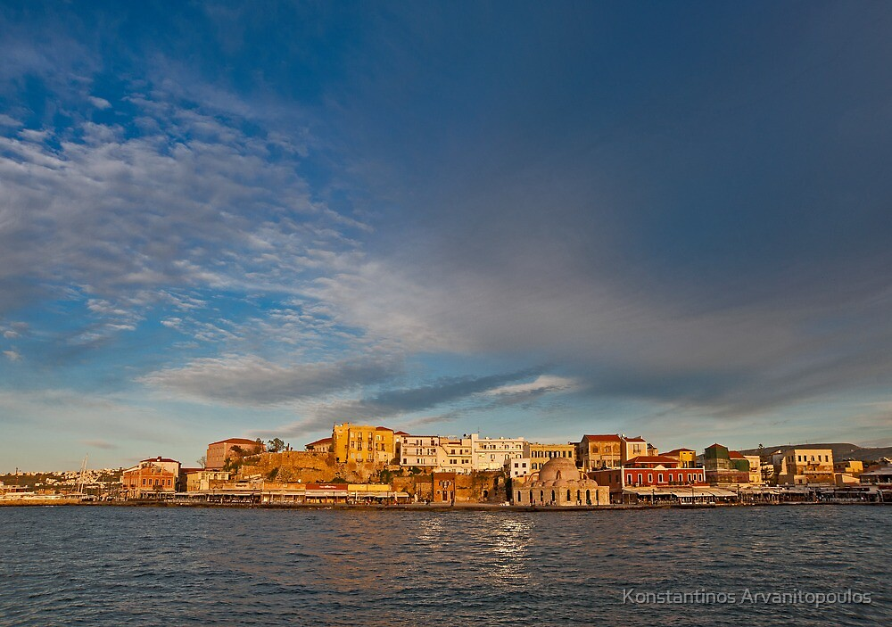 A storm over Chania in Crete by Konstantinos Arvanitopoulos