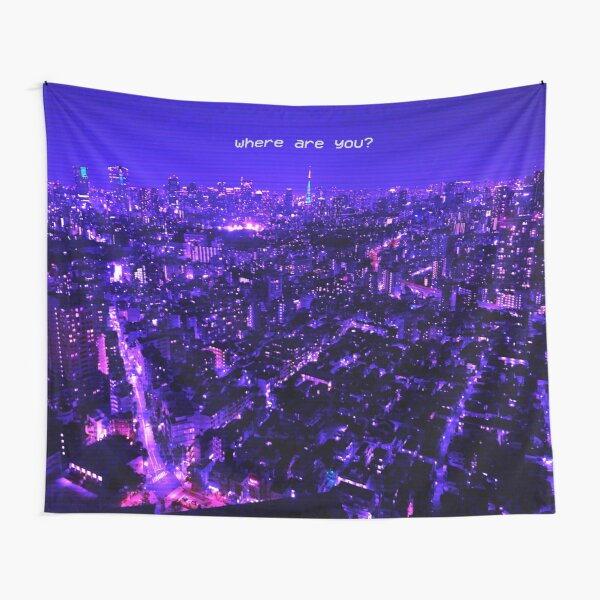 Where Are You? Lost in Translation Vaporwave Aesthetic Tapestry