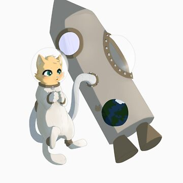 Astronaut cat by Tunnelfrog