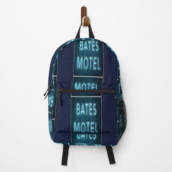 motel norman spooky digital edit movie sticker print Backpack