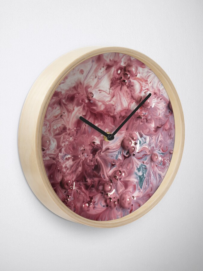 Alternate view of melted colors red and blue Clock