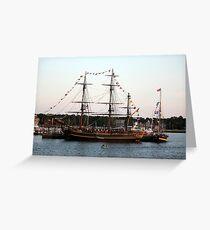 Tall Ships at Anchor Greeting Card