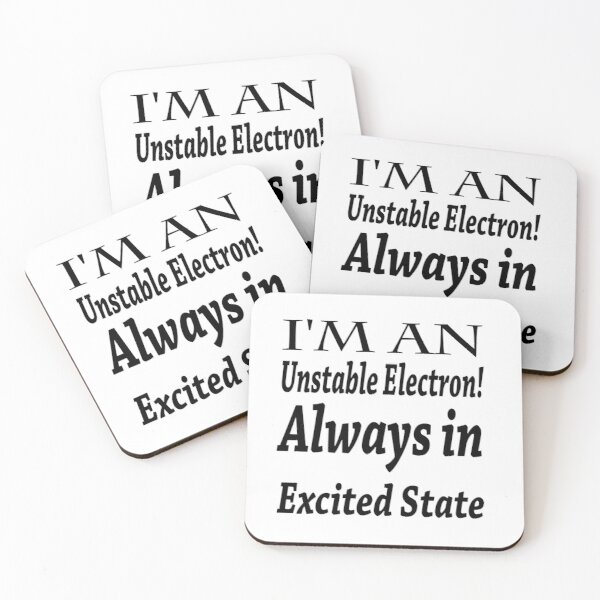 Electrons Coasters (Set of 4)