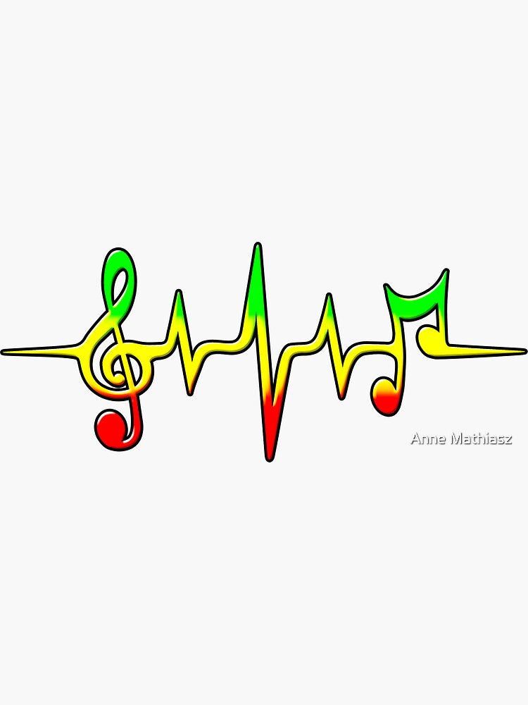 Music Pulse, Reggae, Sound Wave, Rastafari, Jah, Jamaica, Rasta von boom-art