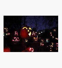 Jack-O-Lanterns 2 Photographic Print