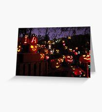 Jack-O-Lanterns 3 Greeting Card