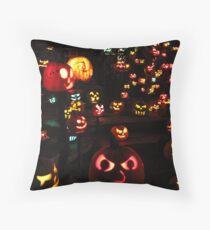Jack-O-Lanterns 4 Throw Pillow