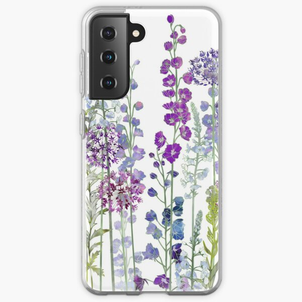 Purple Flower Meadow - Alliums, Delphiniums & Veronica Gentianoides Samsung Galaxy Soft Case