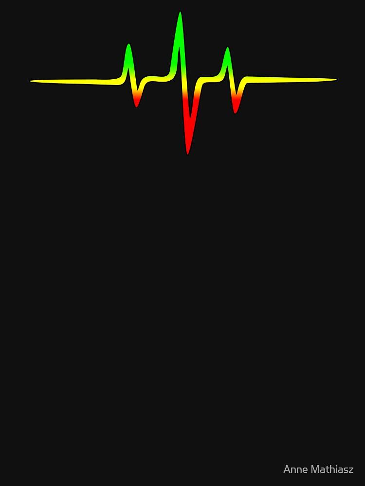 Musik Puls Reggae Heartbeat Rastafari Jah Jamaika Rasta von boom-art