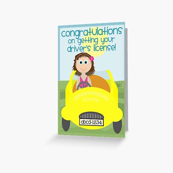 ¡Felicitaciones por obtener su licencia de conducir! Tarjetas de felicitación