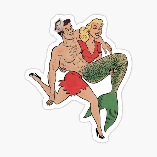 Merman rescue Sticker