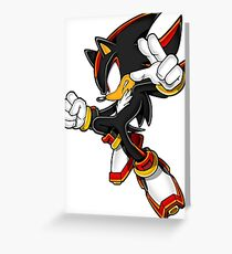 Shadow The Hedgehog Greeting Card
