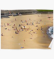 Beach Scene Tilt Shift Poster