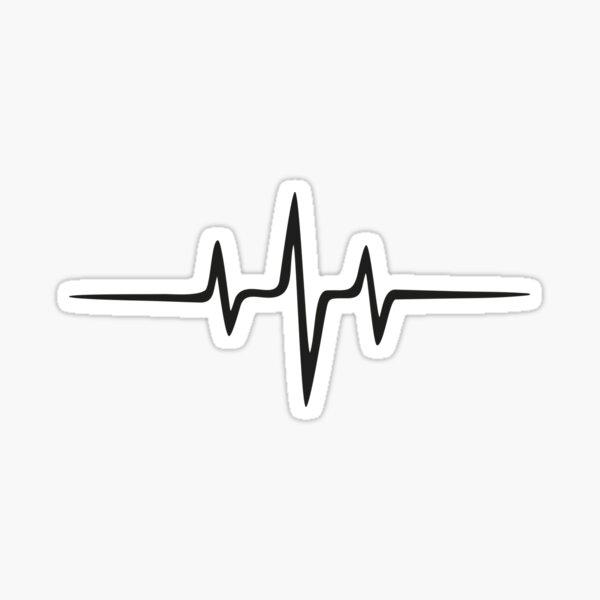 Music Pulse, Música Frecuencia pulso Latido corazón Onda sonora Minimal Techno Rave Pegatina