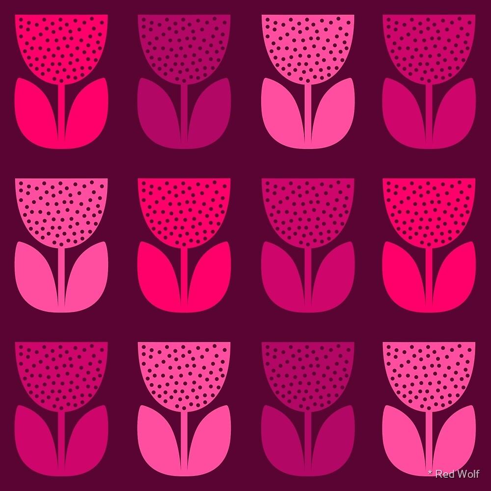 Geometric Pattern: Poppy: Dark Pink by * Red Wolf