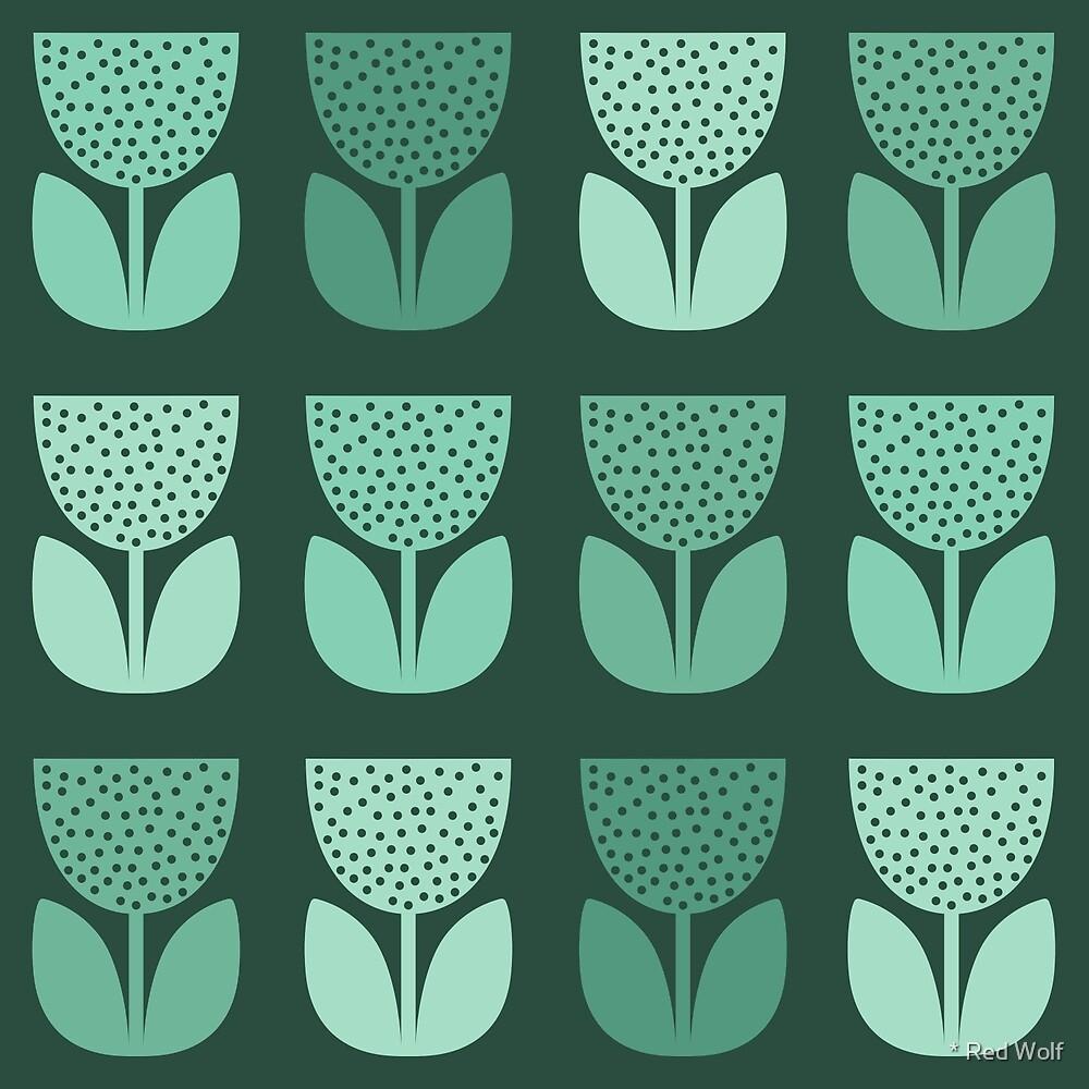 Geometric Pattern: Poppy: Dark Blue by * Red Wolf