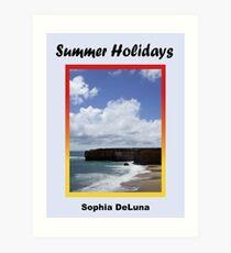 Summer Holidays - eBook cover Art Print