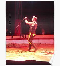 Circus/Russian Strongman VI -(150413)- Digital photo/FujiFilm AX350 Poster