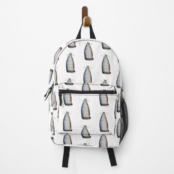 shabby chic Tall French Happy Cat Backpack