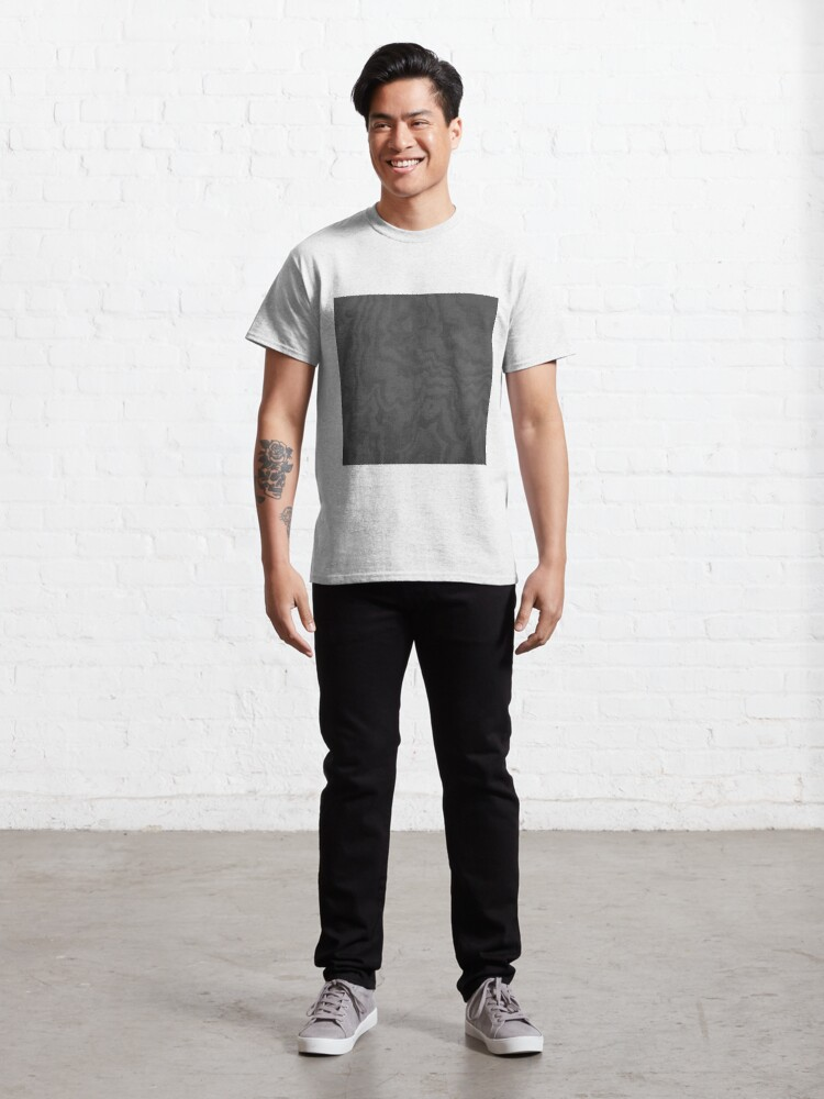 Alternate view of Rustic Wood Effect Texture Charcoal Grey Classic T-Shirt