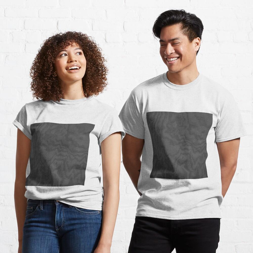Rustic Wood Effect Texture Charcoal Grey Classic T-Shirt
