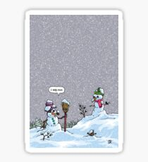 I HATE SNOW Sticker