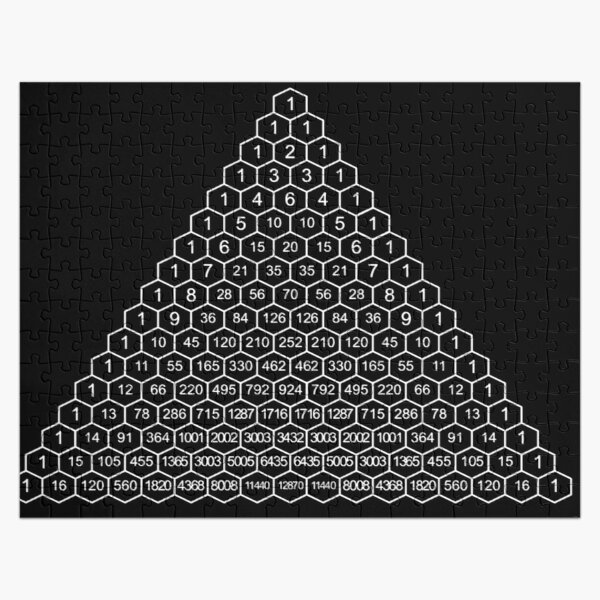 Pascal's Triangle is a triangular array of the binomial coefficients Jigsaw Puzzle