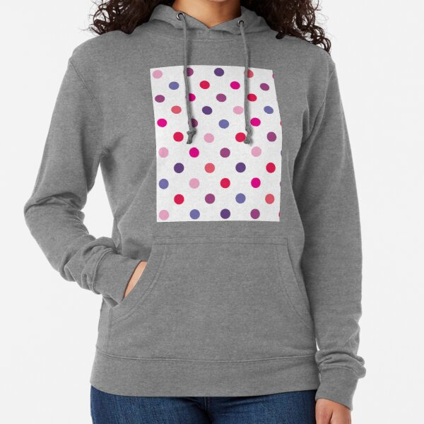Pink and Blue Polka Dots - Classic Retro Fashion Lightweight Hoodie
