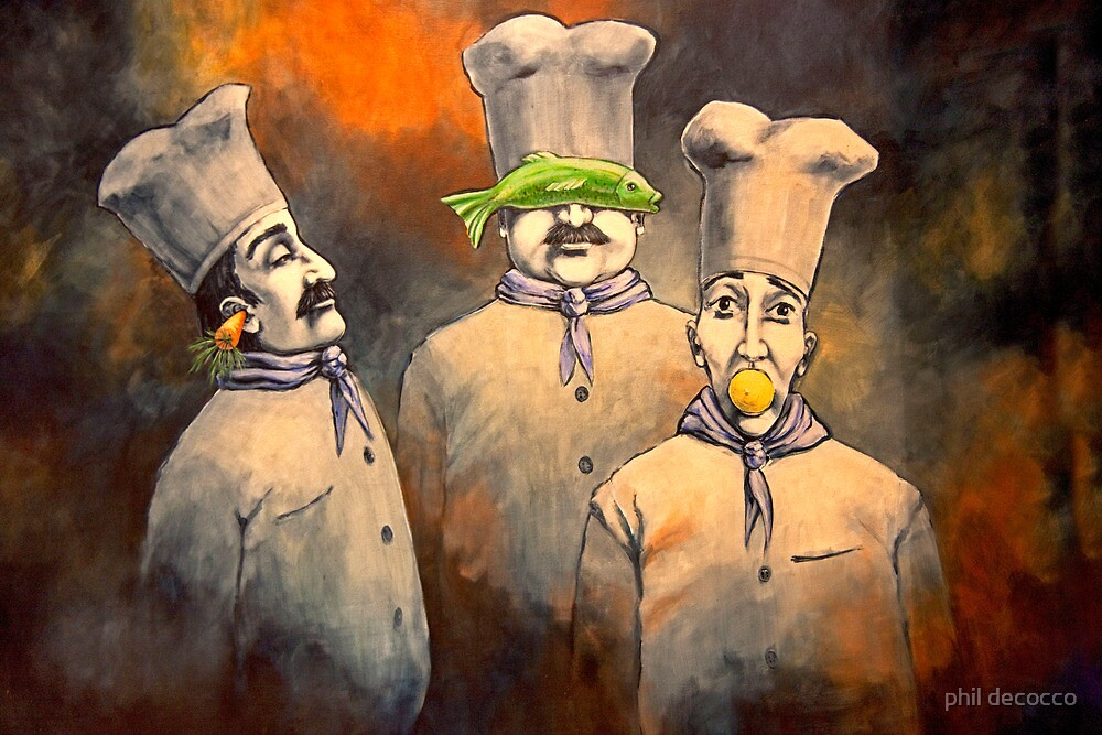 Three Wise Chefs by phil decocco