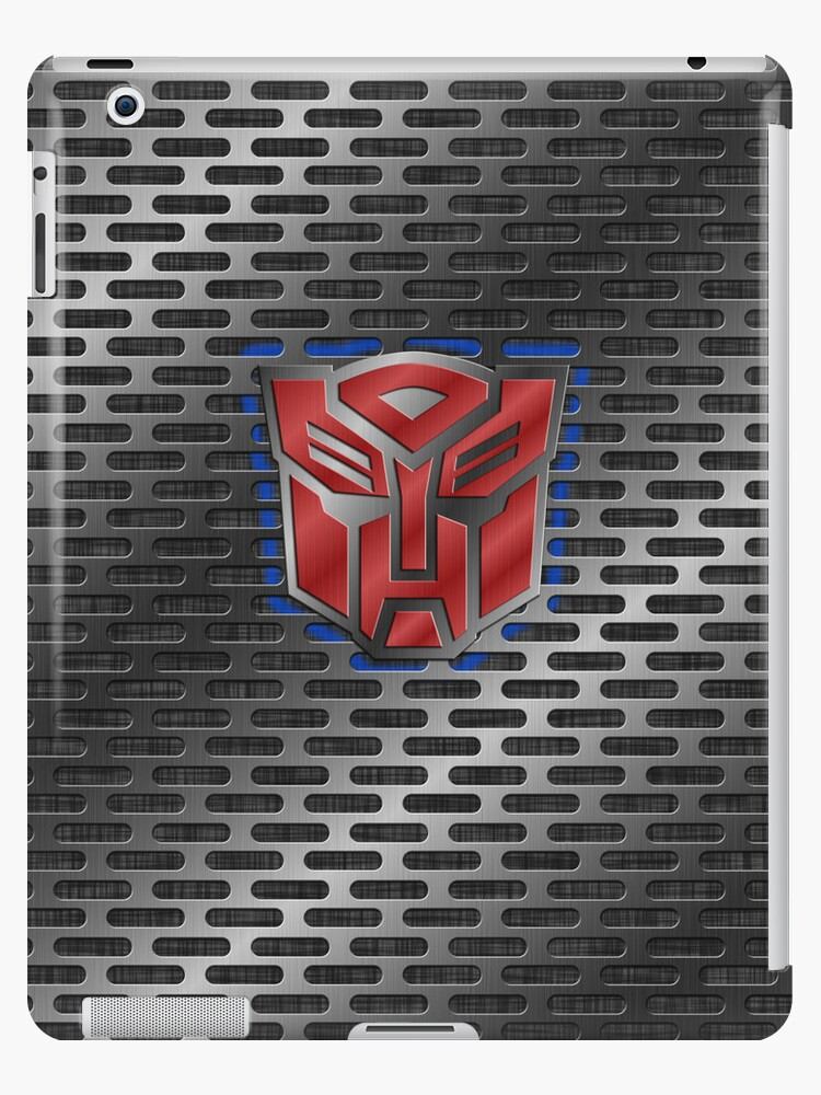 Autobot Symbol Brushed Metal 10 Ipad Cases Skins By Jeffery
