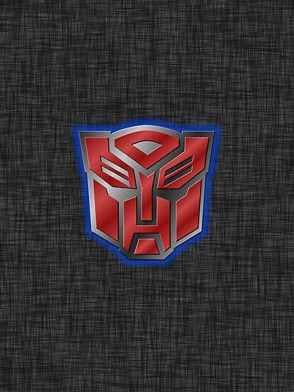 Autobot Symbol - Brushed Metal 2 by Jeffery Borchert