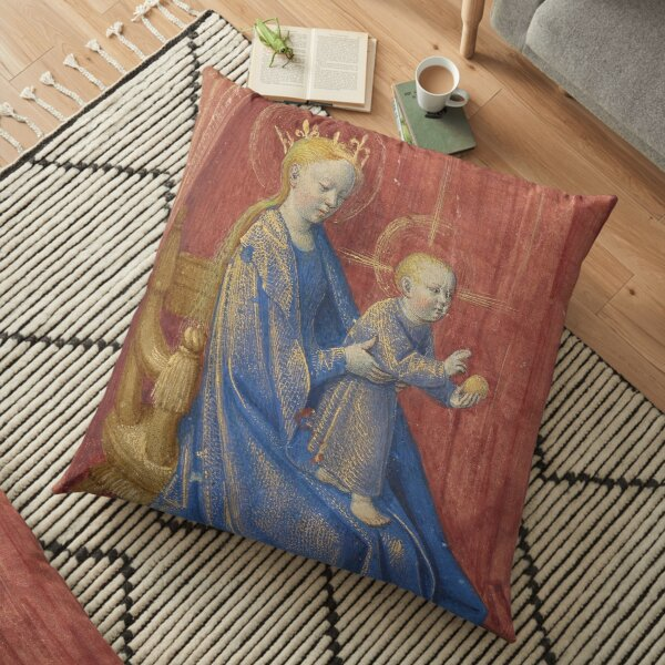 Hours of Simon de Varie - Jean Fouquet, and Dunois Master, and Master of Jean Rolin II Floor Pillow