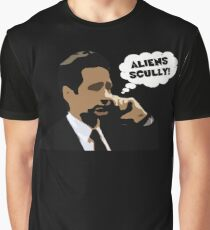 "X-Files Mulder ""Aliens Scully"" Graphic T-Shirt"