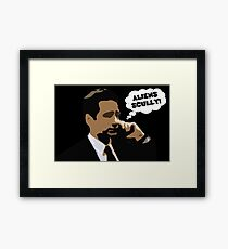 "X-Files Mulder ""Aliens Scully"" Framed Print"