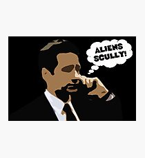 "X-Files Mulder ""Aliens Scully"" Photographic Print"