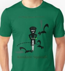 Radfahrende Gefahren - Kamikaze-Eichhörnchen Slim Fit T-Shirt