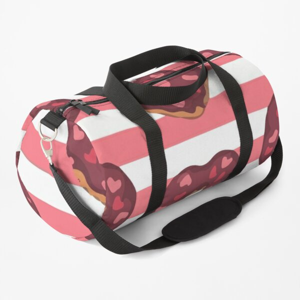 Seamless pattern glazed donuts decorated with icing Duffle Bag
