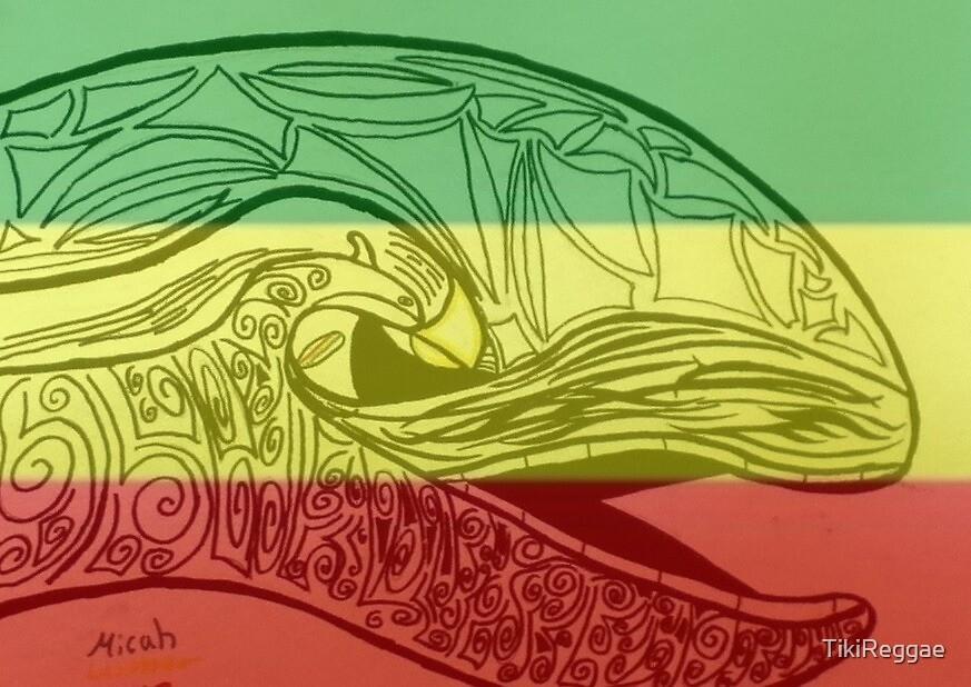 Tiki whale- tribal rasta island art by TikiReggae