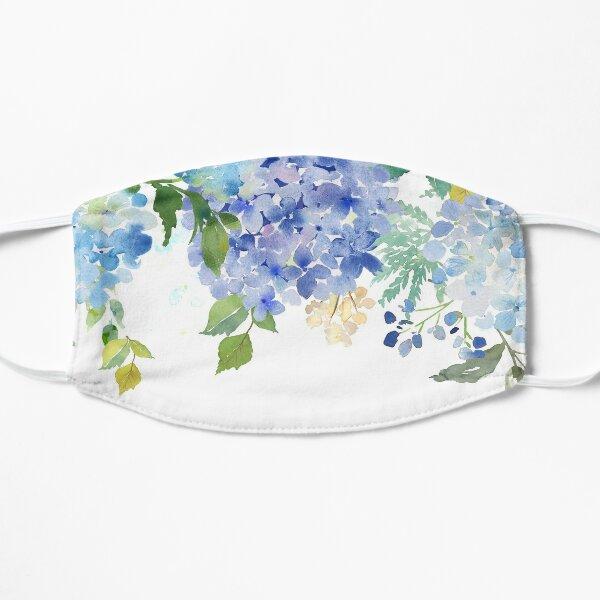 Blue Lilac Watercolor Hydrangea Mask