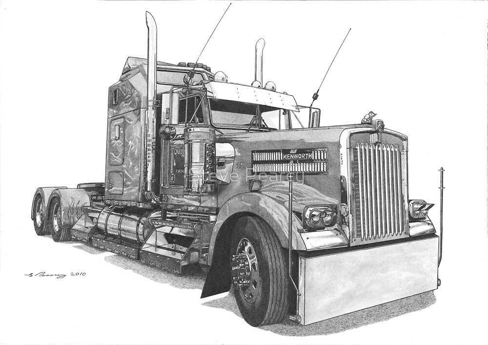 Kenworth W900 by Steve Pearcy Redbubble
