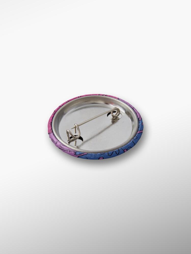 Alternate view of Pastel Kawaii Melting Bisexual Pride LGBTQ Design Pin