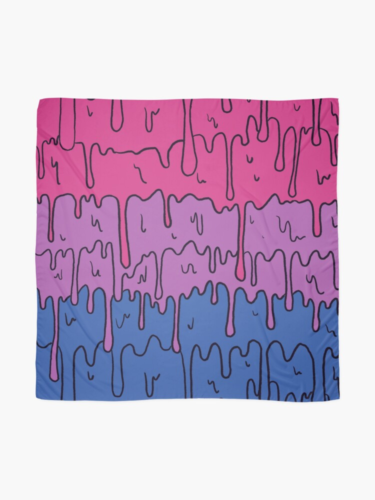 Alternate view of Pastel Kawaii Melting Bisexual Pride LGBTQ Design Scarf